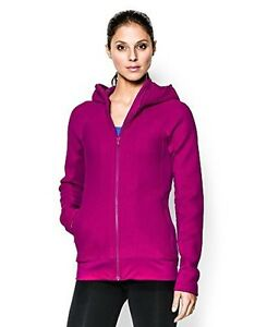 Under Armour Womens UA ColdGear Infrared Full Zip Hoodie Small MAGENTA SHOCK