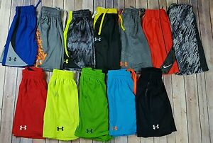 Boys All Nike & Under Armour Shorts Lot Size Small