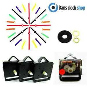 5 Pack Silent Supersweep Quartz Clock Movement Mechanism With Plastic Hands