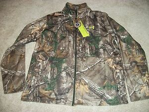 UNDER ARMOUR New NWT Mens 2XL XXL Realtree Camo Camouflage Jacket Zip Up Loose