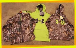 NWT Boy's Under Armour Hoodie Sweat Shirt S L XL Camo Camouflage Youth New YL YS