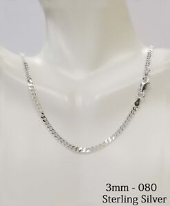 925 Sterling Silver CURB Solid Mens Chain Necklace Or Bracelet Italy Made $35.96