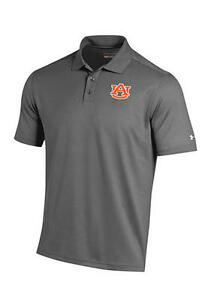 NWT MEN'S Under Armour Auburn Tigers Polo Shirt SIZE LARGE GRAY  $60