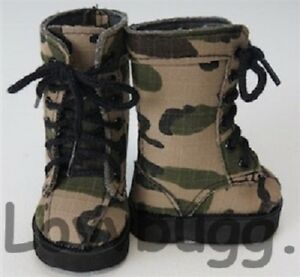 Army Green Combat Boots Camo Camouflage for American Girl Boy 18quot; Doll Clothes