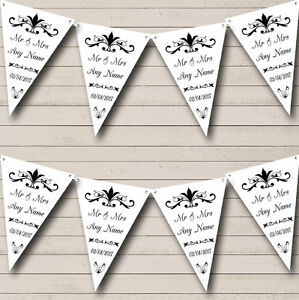 Regal Or White Personalised Engagement Party Bunting Banner Garland