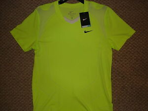 NWT Nike Nadal Vamos Court 2010 Open Lime Tennis Shirt Federer 381364-349 Medium