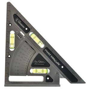 Pivot T Square Triangle Layout Tool Builder Roof Framing Angle Finder Leveler $89.63