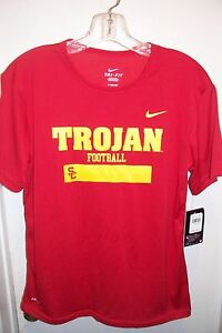 USC TROJANS NEW TROJAN FOOTBALL COLLEGE NCAA DRY FIT SHIRT BOYS YOUTH LARGE