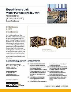 Water desalination and purification system 100000 GPDdayfilter 250000day