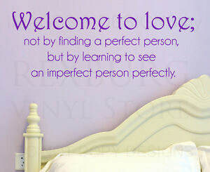 Wall Decal Sticker Quote Vinyl Art See an Imperfect Person Perfectly Love L73