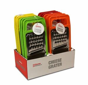 Home Basics NEW Stainless Steel Cheese Grater in Bright Colors Green Red KT10677