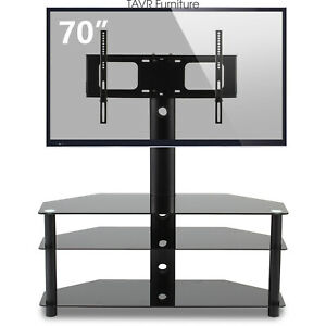 Swivel Floor TV Stand with Mount for most 37 to 70 inch LCD LED TVs