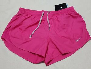 NIKE WOMEN'S RUNNING  TRAINING SHORTS MODERN EMBOSSED TEMPO PINK M or L  rrp£30