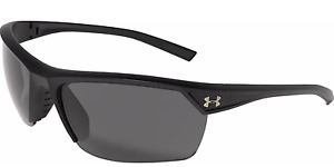NEW Under Armour Zone 2.0 Sunglass Black Frame  Gray Multi Lens 8600050-010100