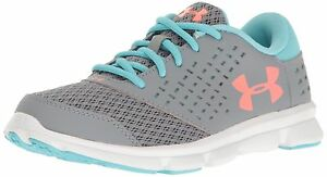 Under Armour Kids' Girls' Pre-School Rave Running Shoe Steel 3 M US Little Kid