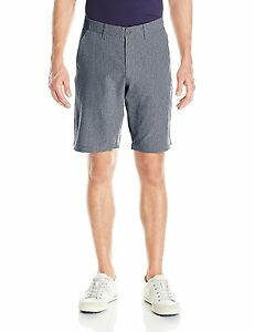 Under Armour Mens Match Play Vented Shorts Stealth GrayTrue Gray Heather 36