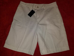 CALLAWAY GOLF    34  WHITE GOLF SHORTS  FLAT FRONT COTTON  NEW WITH TAGS
