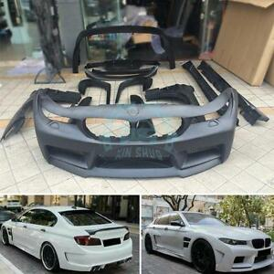 Wide-body Auto Bumper + Fender+Wheel Eyebrow Trim Replacement For BMW 5-Series