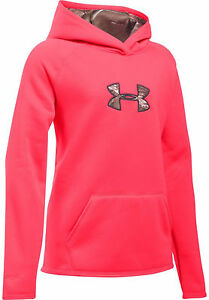 Under Armour GIRLS ICON CALIBER HOODIE PINK  REALTREE CAMO SMALL Sweatshirt NWT