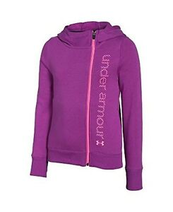 Under Armour Girls UA Surge Full Zip Hoodie Youth Small STROBE