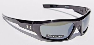 UNDER ARMOUR Power POLARIZED Sunglasses Shiny BlackGray NEW SportCycle $125