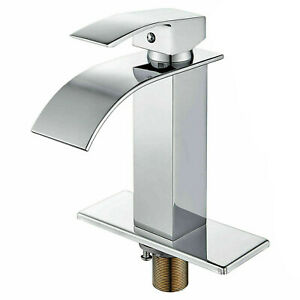 BWE Waterfall Single Handle One Hole Commercial Bathroom Sink Faucet Oil Rubbed