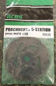 NEW RCBS Pro Chucker 5 Station Shell Holder Plate #38 88939 Auto Index Press