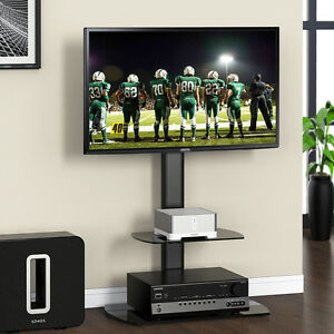 Fitueyes Flat Screen LCD TV Stand Shelves With Swivel Mount For 32-50