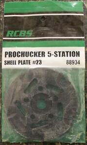 NEW RCBS Pro Chucker 5 Station Shell Holder Plate #23 88934 Auto Index Press