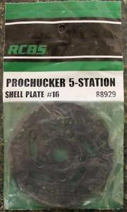 NEW RCBS Pro Chucker 5 Station Shell Holder Plate #16 88929 Auto Index Press