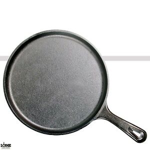 Lodge Cast Iron Griddle Round Pre-Seasoned Skillet 10.5