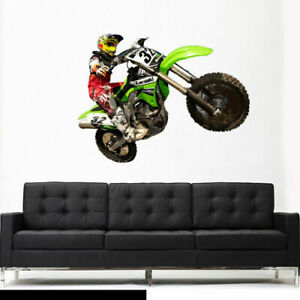 Full Color Wall Decal Sticker Bike Motocross Jump Motocycle Dirt Moto (Col646