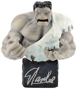 Stan Lee Signed Classic Grey Hulk Mini Bust with Silver Ink - Stan Lee Hologram