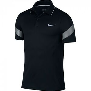 New Black Nike Dri-Fit MM Fly Framing Commander Mens Golf Shirt Large 746074-010