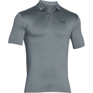 Under Armour Golf CLOSEOUT Men's Coldblack Address Polo Shirt (STEEL)