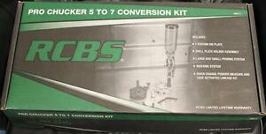 RCBS Pro Chucker 5 to 7 Conversion Kit wDie Plate Shell Holder Priming System++