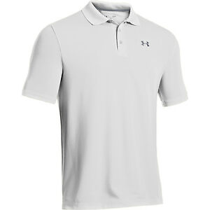 Under Armour Golf CLOSEOUT Men's Performance Polo WhiteSteel 1242755-100