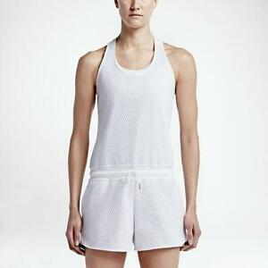 NIKE Women's Romper Tank Top Shorts White Gray MSRP $120 NWT - Extra Large XL