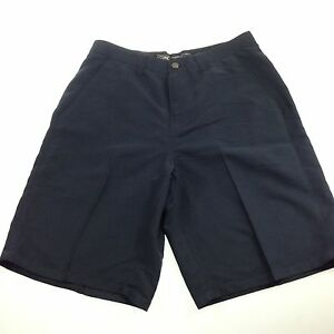 Oakley Shorts Mens 34 Golf Casual Blue Pleated Shorts