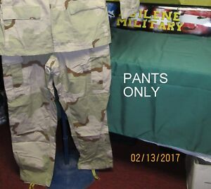 US ARMY 3 COLOR DESERT DCU PANTS COMBAT Uniform WINTER OR SUMMER WEIGHT USED