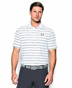 Under Armour Men's coldblack Swing Plane Stripe Polo - Choose SZColor