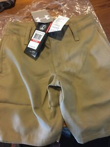 NEW! Under Armour Boys Medal Play Golf Shorts youth size xsmall or size 7