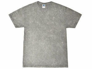 Mineral Wash Vintage Gray T Shirts Adult S to 3XL Short Sleeve 100% Cotton $13.70
