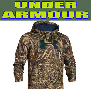 Men's Size XL Tall Under Armour UA Realtree MAX-5  Fleece Hunting Hoodie 1265862