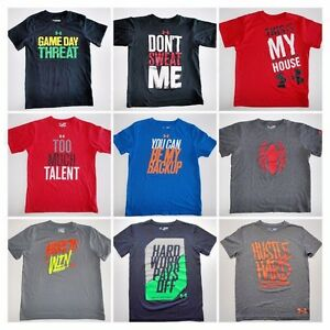 Boys Under Armour T-Shirts all sizes and styles -Click Size for full list