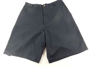Mens Nike Golf Shorts Size 33 M Casual Blue Flat Front