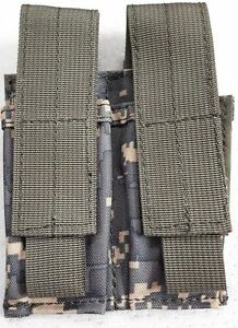 NEW Military Issue Acu Molle 9mm / 45Cal Double Magazine Pouch Magazine Pouch