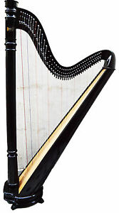 HB Beautiful 42 Strings Pillar Design Lever Harp Antique Christmas Gift Offer