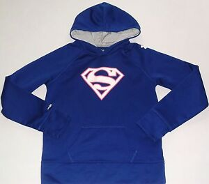 UNDER ARMOUR COLDGEAR GIRL'S SIZE XL PURPLE ALTER EGO SUPERWOMAN  HOODIE IN EUC!