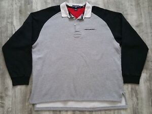 Vintage Polo Sport Ralph Lauren Spellout Long Sleeve Rugby Polo Shirt size 2XL